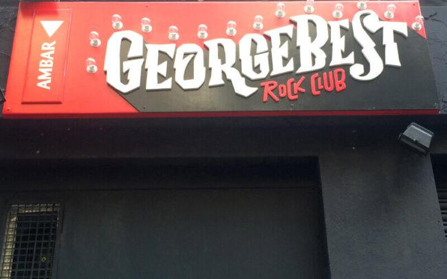 Cartel fachada George Best