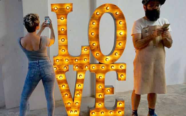 Marquee letters LOVE